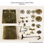 Części mechanizmu G.F. zegara F.Dibon